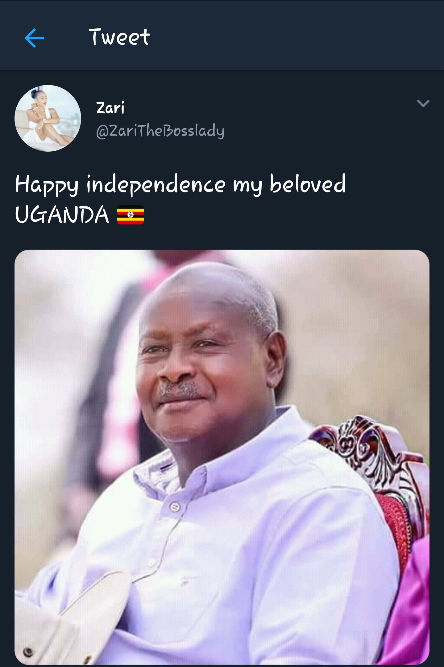 "Fans Blast Zari For ""Referring to Uganda as Museveni"""