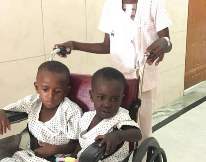 Heart Surgery Children Sent by Bebe Cool to India Return