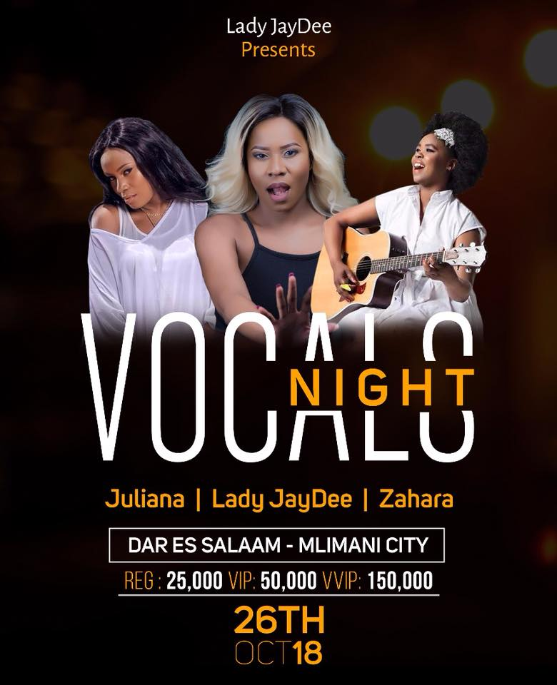 Juliana Kanyomozi Invited to Perform at Vocals Night Dar es Salam
