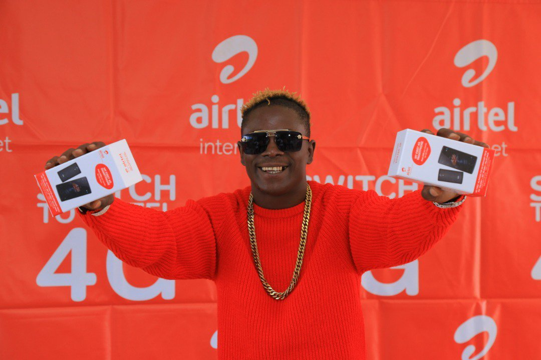 Airtel Uganda in Partnership with King Saha to promote 4G Smartphone