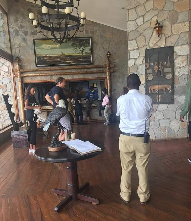 American Rapper Kanye West and Wife Kim Kardashian Land at Chobe Safari Lodge