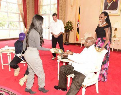 President Museveni gifted Stylish Yeezys by Kim and Kanye