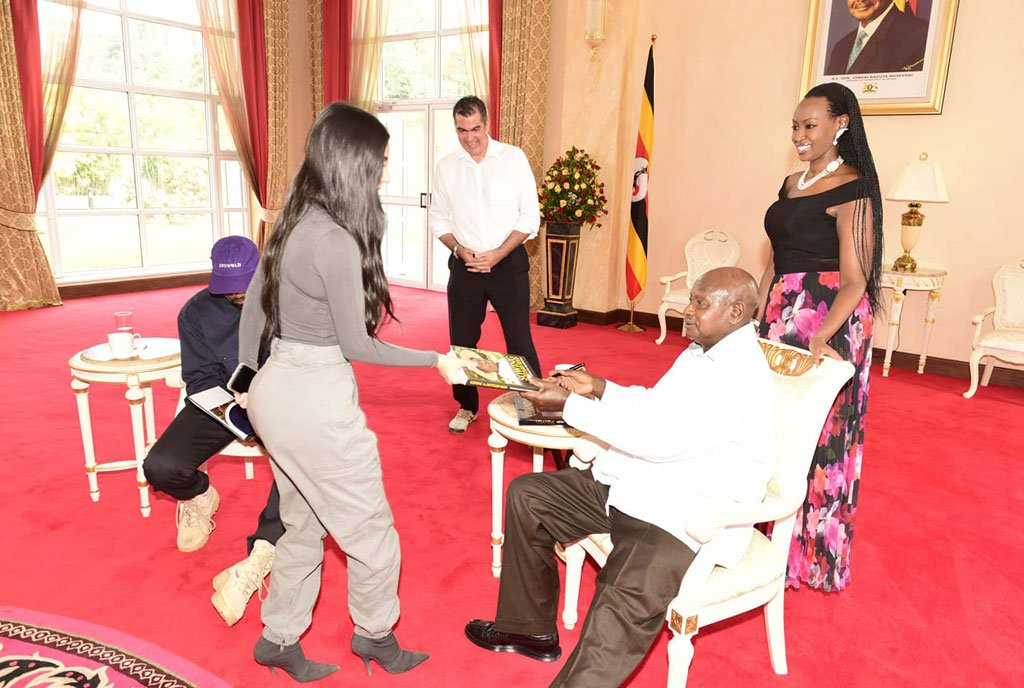 President Museveni gifted Stylish Yeezys by Kim and Kanye