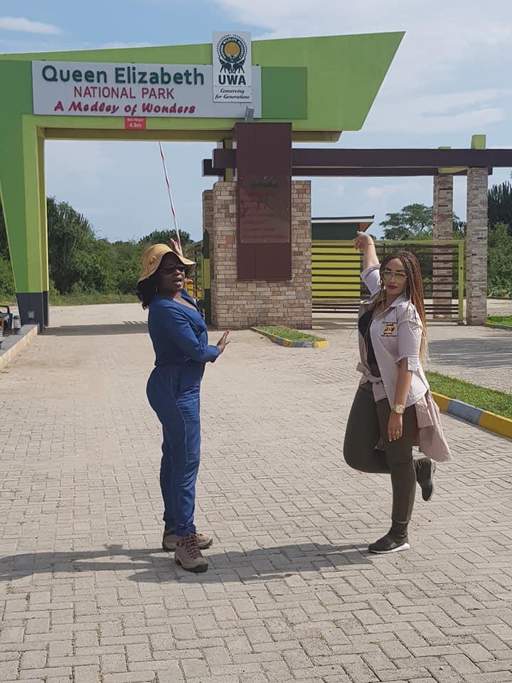 Iryn Namubiru and Tourism Ambassador, Zari Hassan Visit Western Uganda. Photos
