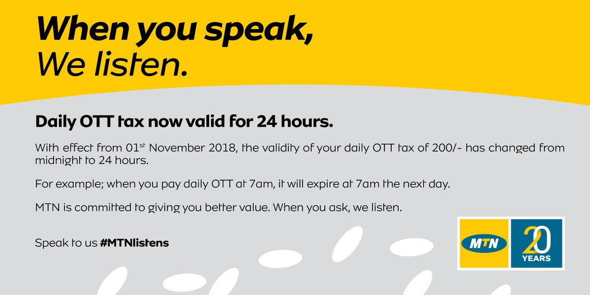 Daily OTT Taxes Now Valid for 24 Hours for some Mobile Companies