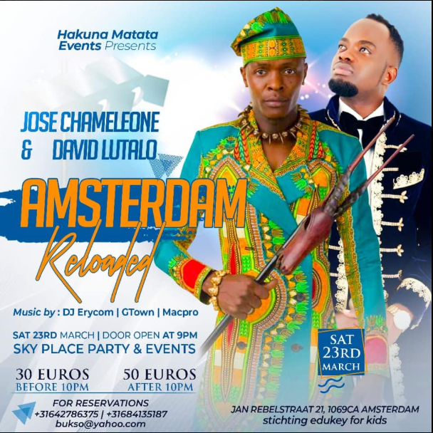Unsettled Chameleone  squashes David Lutalo beef and jumps back on board  to perform in Netherlands