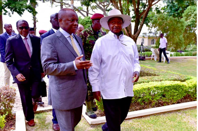Museveni in closed door meeting and  secret talks with the kabaka