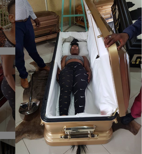 Controversial Pantieless  South African Dancer 'Zodwa Wabantu' buys own coffin at a 60 MILLION UGX  tag