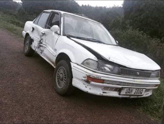 Lydia Jasmine involved in a nasty accident on Masaka road