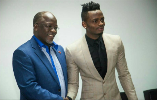 President Magufuli shows support to Diamond as he heads to perform at the 2017 Africa Cup of Nations in Gabon (Photos)