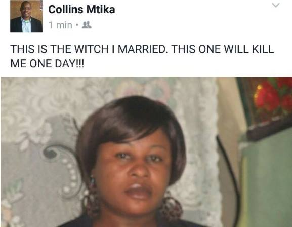 """This is the witch I married. This one will kill me one day"" Journalist takes to Facebook to insult his wife"