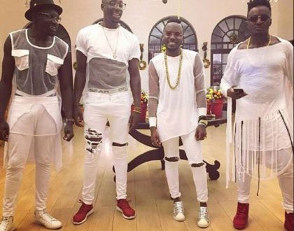Back when Sauti Sol members could 'holla' at a fine lady and get ignored (Photo)