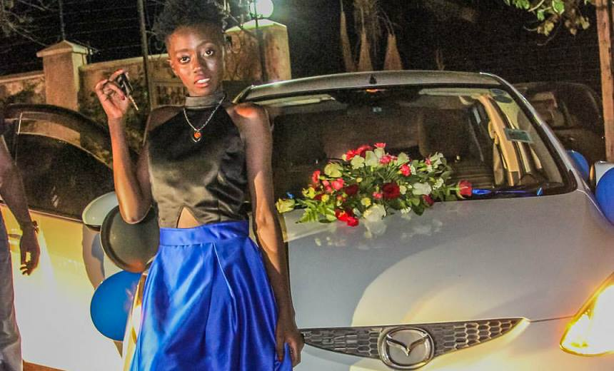 """""""You can now drive yourself to school"""" 10 photos of the brand new Mazda Akothee bought her daughter on her birthday"""