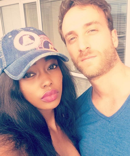 Corazon Kwamboka and her boyfriend