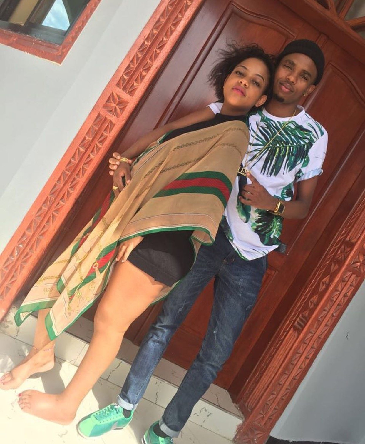 Rayvanny's girlfriend steps out in a tiny short as she flaunts her bulging baby bump