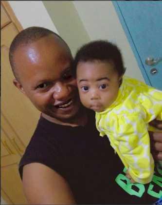 Pastor Eric Omba with daughter, Eliana Omba
