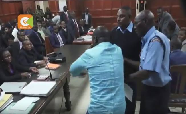 City tycoon Paul Kobia loses his cool and charges towards magistrate shouting and crying during the hearing of his case in court (Photos)