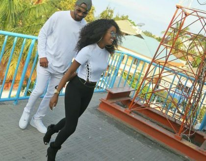 Picha 4 za Vanessa Mdee and Romy Jones wakionyesha chembechembe ya mapenzi