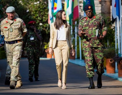 7 photos of Angelina Jolie in Nairobi celebrating a special day with 20 girls