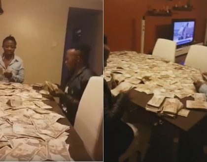 Angry reactions as gospel singer Papa Dennis is seen counting loads of cash at his house (Video)
