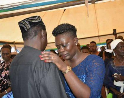 Chris Msando's widow enjoys herself after husband's burial (Video)