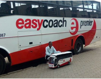 19 year old who made scale model of Easy Coach given a job by the bus company...But Kenyans are not happy