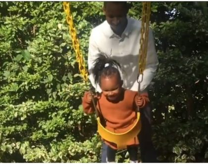 They grow so fast! Babu Owino and daughter enjoy a father-daughter moment