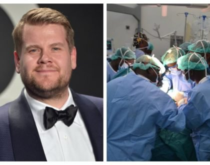 UK comedian James Corden tears apart surgeons at Kenyatta hospital who opened up the skull of a wrong patient