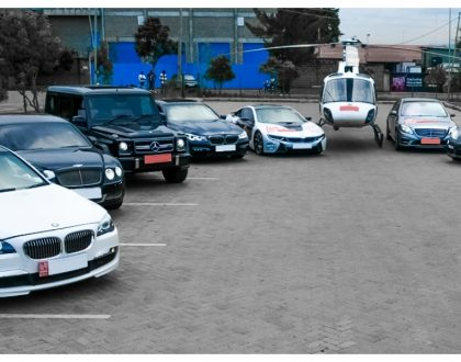 Event organizers line up 1 chopper,Bentley, Porsche, Range Rover as part of Rick Ross' convoy (Photos)