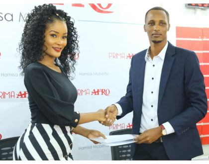 More money! Hamisa Mobetto smiles all the way to the bank after signing deal that will see her earn 6-figure salary a month