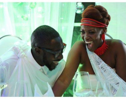 Sauti Sol's Polycarp Otieno throws newlywed wife lavish birthday party (Photos)