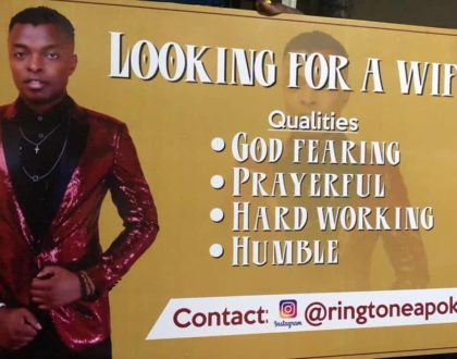 Ringtone's desperation to get a wife in  'Natafuta Bibi'