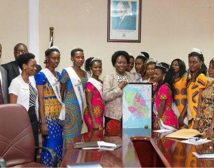 Miss Tourism Busoga Beauties Meet The Speaker of Parliament, Rebecca Kadaga