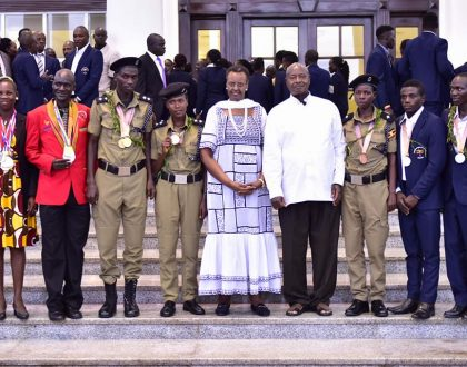 Museveni Promises 5million salary and Accomodation to Medal winners