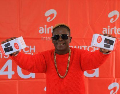 Airtel Uganda in Partnership with King Saha to promote 4G Smartphone
