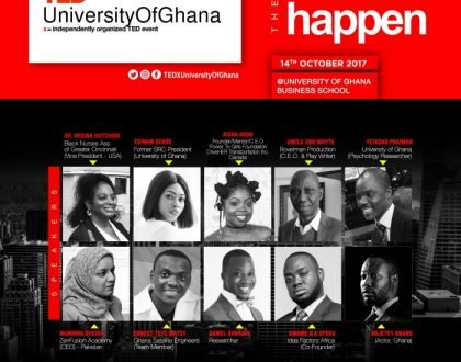 #TEDXUniversityOfGhana Releases List of Speakers