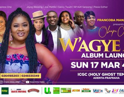 Obaapa Christy To Launch 'W'agye Me' Album On March 17