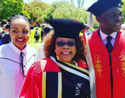 Lillian Dube is officially a doctor