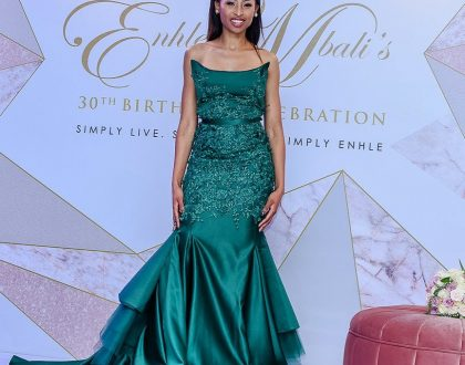 Enhle Mbali launches her hair range