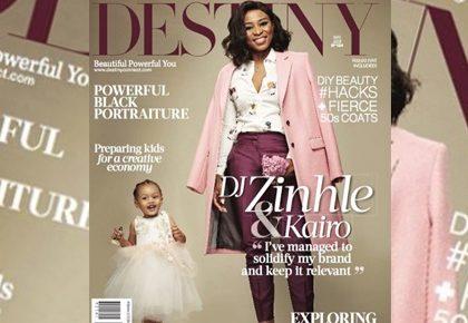 DJ Zinhle and Kairo on the cover of Destiny Magazine