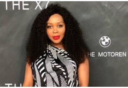 Presenter Sechaba Gqeba shows first photo of baby