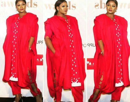 Omotola Jalade Ekehinde dazzles in Agbada to Future Awards