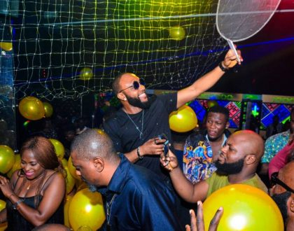 photos of celebrities at Kcee's birthday party