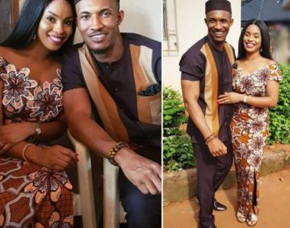 Actor Gideon Okeke is no longer a bachelor has a take wine to fiancee's family
