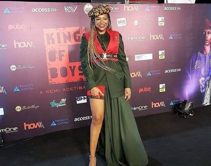 Check out how Kemi Adetiba the real King of Boys, glammed-up for her movie premiere