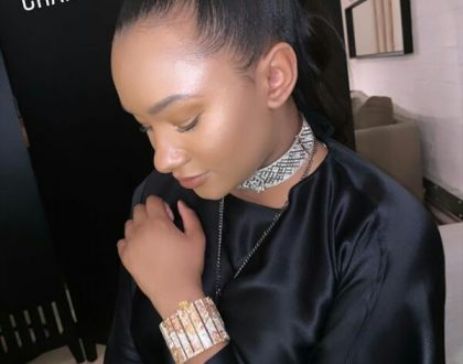 Temi Otedola wears  £1.4 million worth of Chanel on her wrist at a party in London